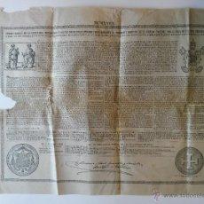 Documentos antiguos: BULA DE 1918 PAPA BENEDICTO XV DE 75 CENTIMOS DE PESETA. Lote 46698109