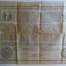 Documentos antiguos: BULA DE 1918 PAPA BENEDICTO XV DE 75 CENTIMOS DE PESETA. Lote 46698156