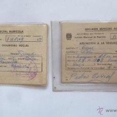 Documentos antiguos: DOCUMENTO DE AFILIACION A LA SEGURIDAD SOCIAL REGIMEN ESPECIAL AGRICOLA MINISTERIO DE TRABAJO ALAVA. Lote 46707307