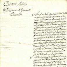 Documentos antiguos: AÑO 1816 - CIRCULAR MANUSCRITA DE BARCELONA A PALLEJÁ DEL CRÉDITO PÚBLICO - DIEZMOS DE ¿EXENTOS?. Lote 46722669