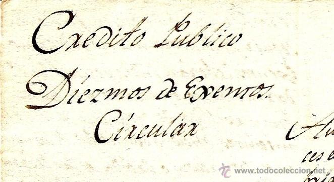 Documentos antiguos: AÑO 1816 - CIRCULAR MANUSCRITA DE BARCELONA A PALLEJÁ DEL CRÉDITO PÚBLICO - DIEZMOS DE ¿EXENTOS? - Foto 2 - 46722669