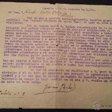 Documentos antiguos: CARTA ALMERIA DIRIGIDA A ALHABIA 1931. Lote 46893366