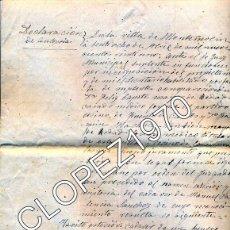 Documentos antiguos: MONTEMOLIN, BADAJOZ, 1921, INFORME DE UNA AUTOPSIA, 4 PAGINAS, IMPRESIONANTE DOCUMENTO. Lote 46932067