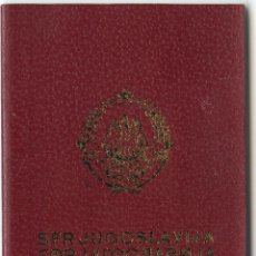 Documentos antiguos: PASAPORTE DE YUGOSLAVIA 1980. Lote 47039240