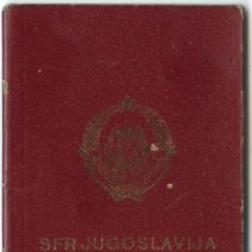Documentos antiguos: PASAPORTE DE YUGOSLAVIA 1982. Lote 47039261