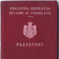 Documentos antiguos: PASAPORTE DE YUGOSLAVIA 1938. Lote 47039383