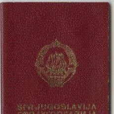 Documentos antiguos: PASAPORTE DE YUGOSLAVIA 1979. Lote 47039403