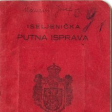 Documentos antiguos: PASAPORTE DE YUGOSLAVIA 1928. Lote 47039507