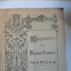 Certificado registro patente Aceite marca Armengol Tarrasa ( Barcelona ) 1933