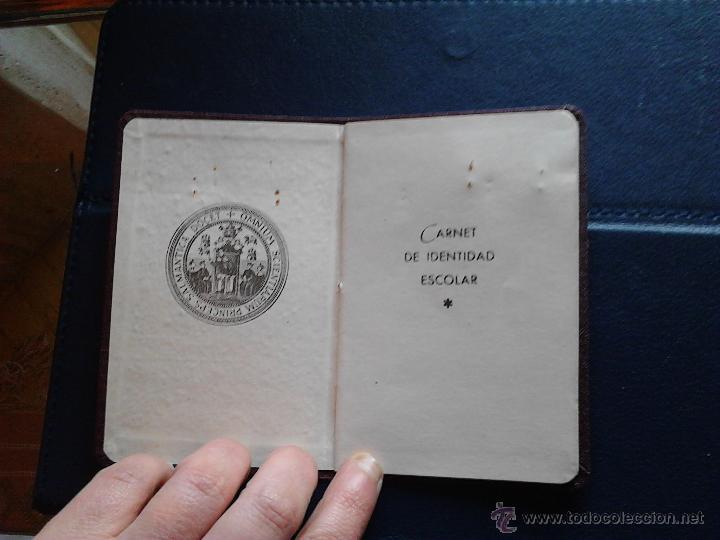 Documentos antiguos: CARNET DE IDENTIDAD ESCOLAR UNIVERSIDAD DE SALAMANCA MINISTERIO DE EDUCACIÓN NACIONAL - Foto 3 - 47078477