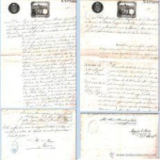 Documentos antiguos: 1891.- PAR DE CERTIFICACIONES DE MATRIMONIO DE LA IGLESIA CATEDRAL DE CADIZ Y LA IGLESIA SANTA. CRUZ. Lote 47178589
