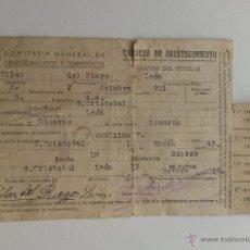 Documentos antiguos: TARJETA DE ABASTECIMIENTO 1945. Lote 47239896