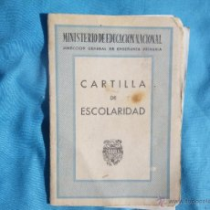 Documentos antiguos: CARTILLA DE ESCOLARIDAD AÑO 1954. Lote 47265403