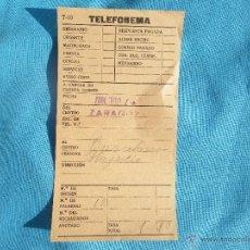 Documentos antiguos: DOCUMENTO TELEFONEMA AÑO 1927 BARCELONA. Lote 47285669
