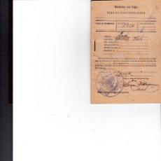 Documentos antiguos: CUADERNILLO DE CONCENTRACION 1924 -CAJA DE RECLUTA Nº 25. Lote 47310630
