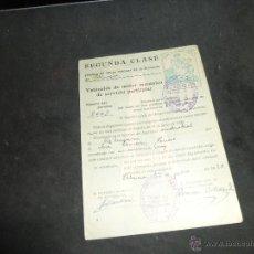 Documentos antiguos: PERMISO DE CONDUCIR VEHICULOS DE MOTOR MECANICO DE USO PARTICULAR, SEGUNDA CLASE, VALENCIA 1928. Lote 180153431