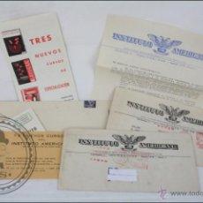 Documentos antiguos: CONJUNTO DE DOCUMENTOS Y CARTAS DEL INSTITUTO AMERICANO - CURSOS A DISTANCIA - AÑOS 60. Lote 47487581
