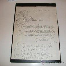 Documentos antiguos: DOCUMENTO SALVADOR DALI A DON MANUEL FRAGA IRIBARNE MIN. DE INFOR. Y TURIS 1969 PORT LLIGAT. Lote 47633714