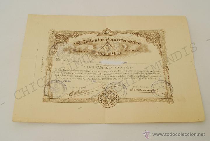 Documentos antiguos: Importante lote de Documentación perteneciente a un cargo Masón. Grande Oriente Español. 1927-1950. - Foto 7 - 47635392
