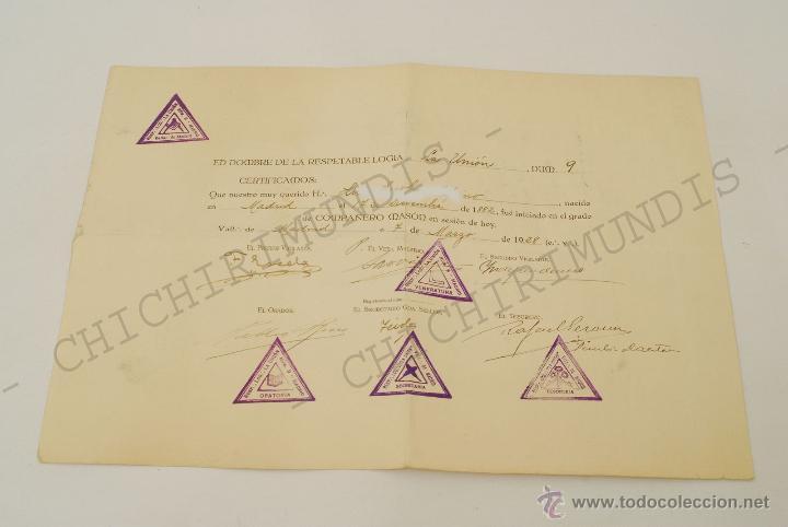 Documentos antiguos: Importante lote de Documentación perteneciente a un cargo Masón. Grande Oriente Español. 1927-1950. - Foto 8 - 47635392