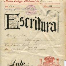 Documentos antiguos: ESCRITURA DE COMPRAVENTA 1909. NOTARIA DE DIONISIO NOVEL EN COLMENAR (MÁLAGA). Lote 47787580