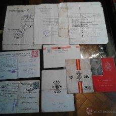 Documentos antiguos: DOCUMENTOS DE LA FALANGE ESPAÑOLA TRADICIONALISTA Y DE LAS J.O.N.S ASTURIAS. Lote 47836615