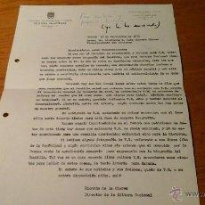 Documentos antiguos: CARTA DE RICARDO DE LA CIERVA A D. LUIS CARRERO BLANCO. Lote 47839308