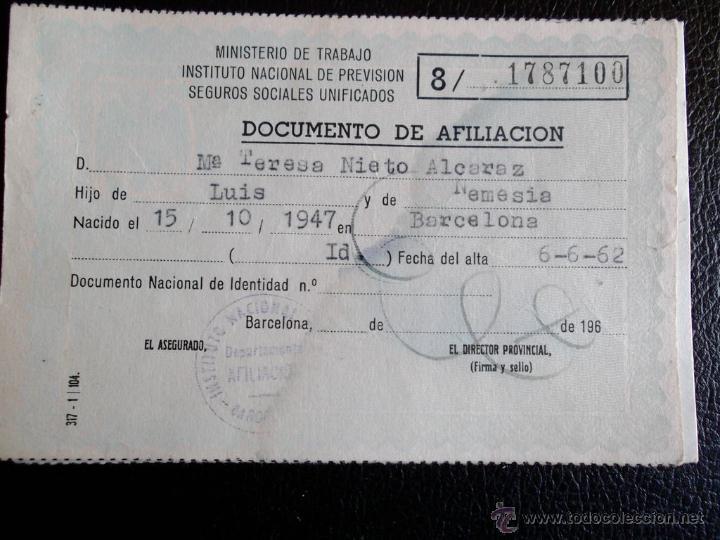 Documento afiliaci n ministerio de trabajo ins comprar for Oficina estatal de empleo