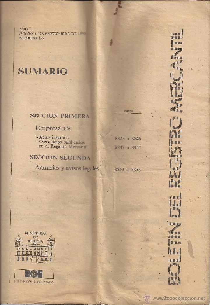 Boletin Del Registro Mercantil Nº147 6 Septiembre 1990