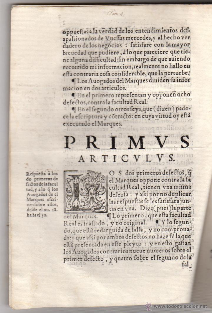 Documentos antiguos: PORCON PLEITO DEL CONDE DEL MONTIJO CONTRA EL MARQUES DE VILLENA. AÑO 1604 - Foto 2 - 47920485