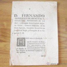 Documentos antiguos: DOS REALES CEDULAS DE VILLA VIEJA - VALES REALES Y TRATO DE PRESIDIARIOS - 1763.VER FOTOS - TABACO. Lote 47976877