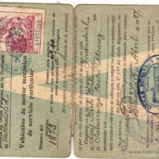 Documentos antiguos: CARNET PERMISO CONDUCIR 2ª CLASE , VEHICULOS MOTOR SERVICIO PARTICULAR 1927. Lote 48102964