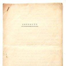 Documentos antiguos: ORIGINAL MECANOGRAFIADO DE ELADIO VERDE. 5 HOJAS, FIRMADO Y FECHADO POR EL AUTOR.GIJÓN 1959.ASTURIAS. Lote 48228025