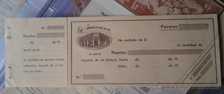 LA INNOVACIÓN GIJON RECIBO (Coleccionismo - Documentos - Otros documentos)