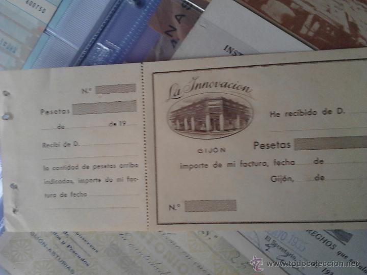 Documentos antiguos: LA INNOVACIÓN GIJON RECIBO - Foto 2 - 48437907
