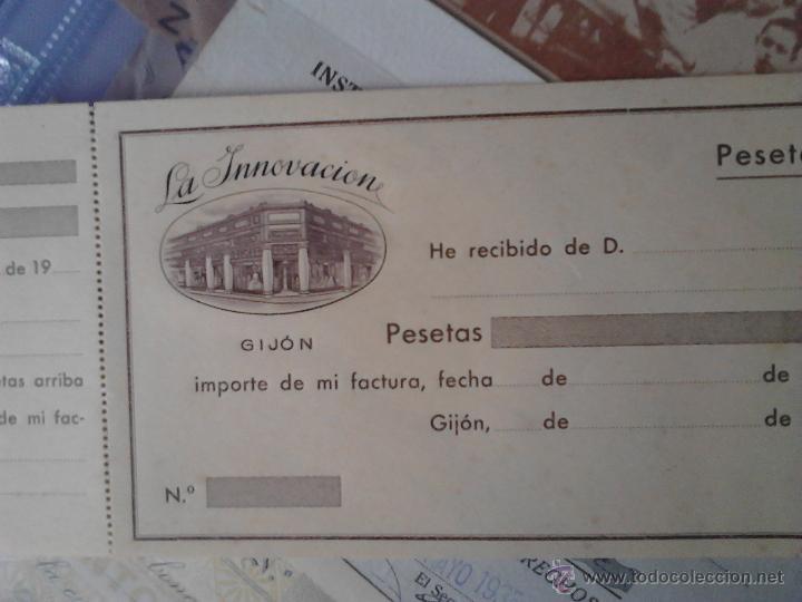 Documentos antiguos: LA INNOVACIÓN GIJON RECIBO - Foto 3 - 48437907