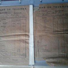 Documentos antiguos: MINAS DE TEVERGA 1940 LIBRAMIENTO CATEGORIA CANTERO. Lote 48438014