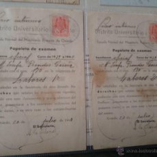 Documentos antiguos: PAPELETAS DE EXAMEN ESCUELA NORMAL DEL MAGISTERIO PRIMARIO DE OVIEDO ASIGNATURA LABORES 1939/40. Lote 48438341