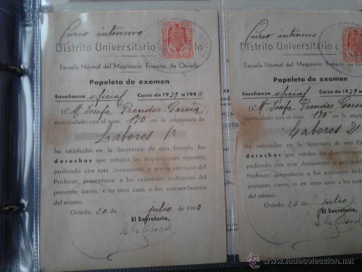 Documentos antiguos: PAPELETAS DE EXAMEN ESCUELA NORMAL DEL MAGISTERIO PRIMARIO DE OVIEDO ASIGNATURA LABORES 1939/40 - Foto 4 - 48438341