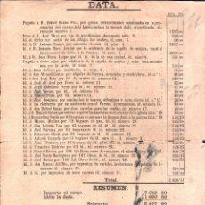 Documentos antiguos: FACTURA DE GASTOS. PUERTO SANTA MARIA. 1866.. Lote 48448242