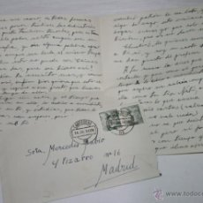 Documentos antiguos: CARTA DE UN SOLDADO DESDE CARTAGENA A SU NOVIA EN 1954. Lote 48561526
