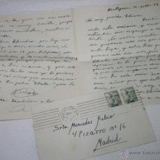 Documentos antiguos: CARTA DE UN SOLDADO DESDE CARTAGENA A SU NOVIA EN 1954 - 2ª. Lote 48561544