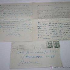 Documentos antiguos: CARTA DE UN SOLDADO DESDE CARTAGENA A SU NOVIA EN 1954 - 3ª. Lote 48561561