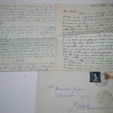 Documentos antiguos: CARTA DE UN SOLDADO DESDE CARTAGENA A SU NOVIA EN 1954 - 6ª. Lote 48561589