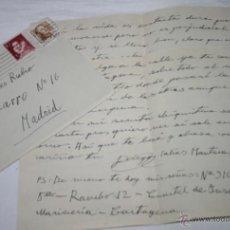 Documentos antiguos: CARTA DE UN SOLDADO DESDE EL BUQUE DRAGAMINAS LLOBREGAT EN CARTAGENA A SU NOVIA EN 1954 - 39ª. Lote 48564041