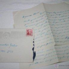 Documentos antiguos: CARTA DE UN SOLDADO DESDE EL BUQUE DRAGAMINAS LLOBREGAT EN CARTAGENA A SU NOVIA EN 1954 - 40ª. Lote 48564043