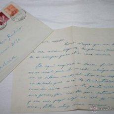 Documentos antiguos: CARTA DE UN SOLDADO DESDE EL BUQUE DRAGAMINAS LLOBREGAT EN SAN FERNANDO CADIZ A SU NOVIA EN 1954, 6ª. Lote 48564051