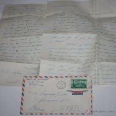 Documentos antiguos: CARTA DE SOLDADO DESDE EL BUQUE DRAGAMINAS LLOBREGAT EN LONG BEACH CALIFORNIA A SU NOVIA EN 1955, 2ª. Lote 48564789