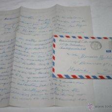 Documentos antiguos: CARTA DE SOLDADO DESDE EL BUQUE DRAGAMINAS LLOBREGAT EN LONG BEACH CALIFORNIA A SU NOVIA EN 1955, 3ª. Lote 48564800