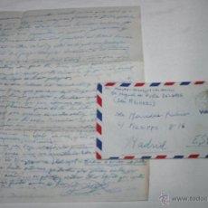 Documentos antiguos: CARTA DE SOLDADO DESDE EL BUQUE DRAGAMINAS LLOBREGAT EN ISLAS AZORES A SU NOVIA EN 1955. Lote 48564846